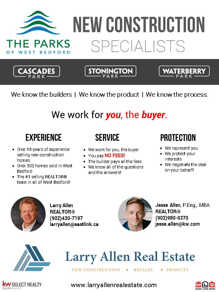 New Construction Specialists - Flyer