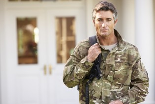 Soldier Returning To Unit After Home Leave