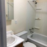 Basement apartment bathroom