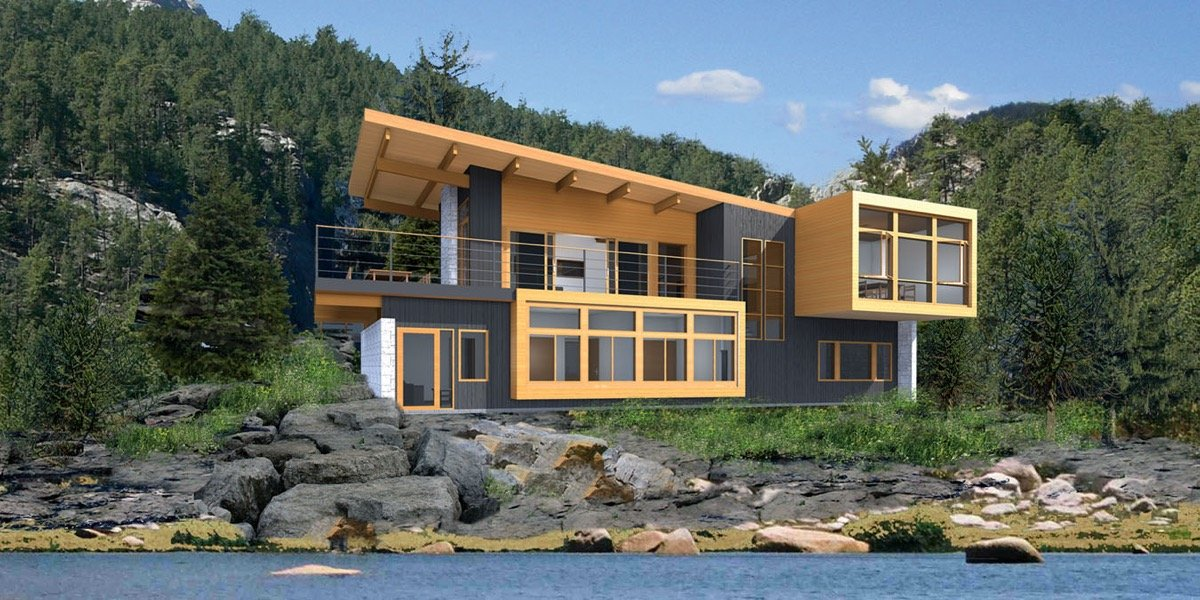 Lindal architects collaborative coastal cedar homes inc for Lindal log cabin homes