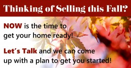 Thinking of Selling – Fall