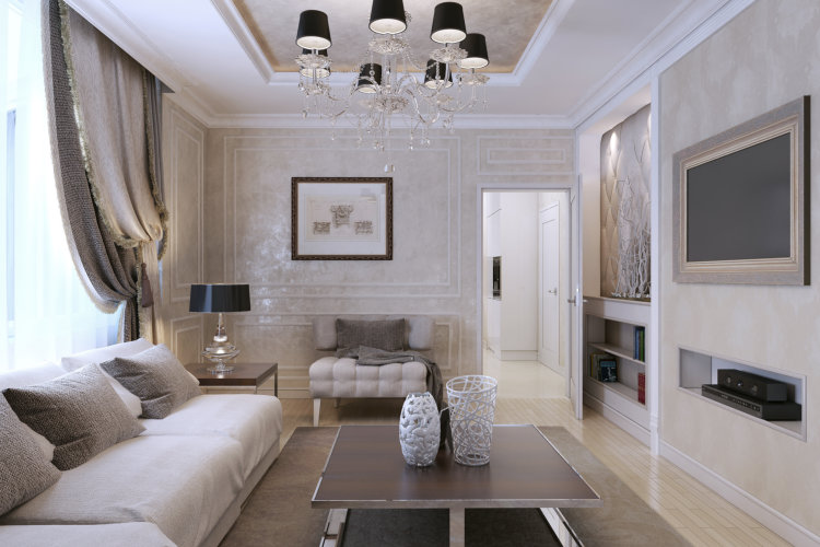Living Room Art Deco Style Classic Style 3d Image Greater Ottawa - Living-room-art-property